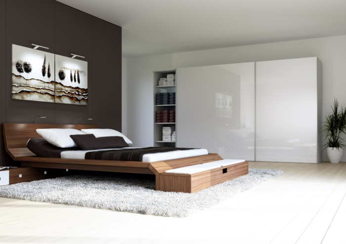 bett mit kleiderschrank. Black Bedroom Furniture Sets. Home Design Ideas