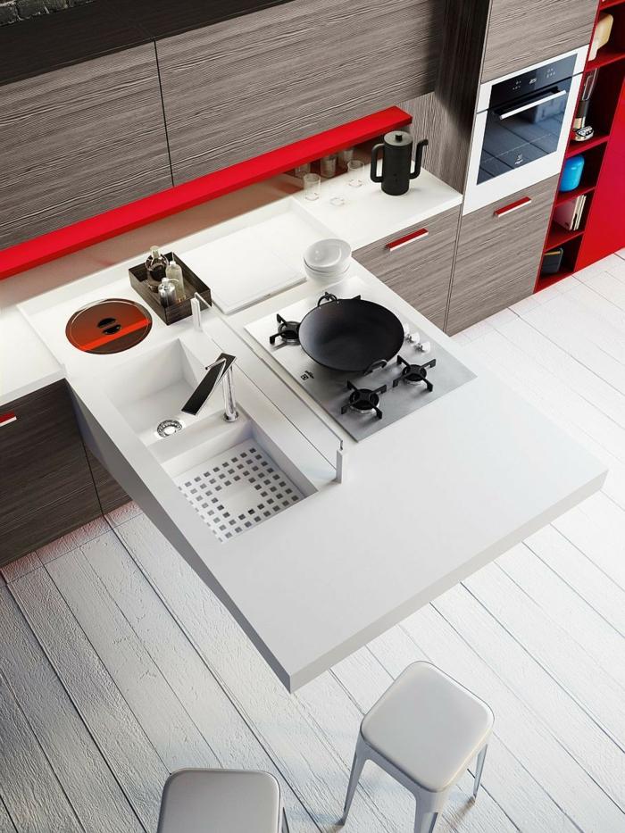 kochen tipps moderne kücheneinrichtung weiße köchenmöbel kochplatte