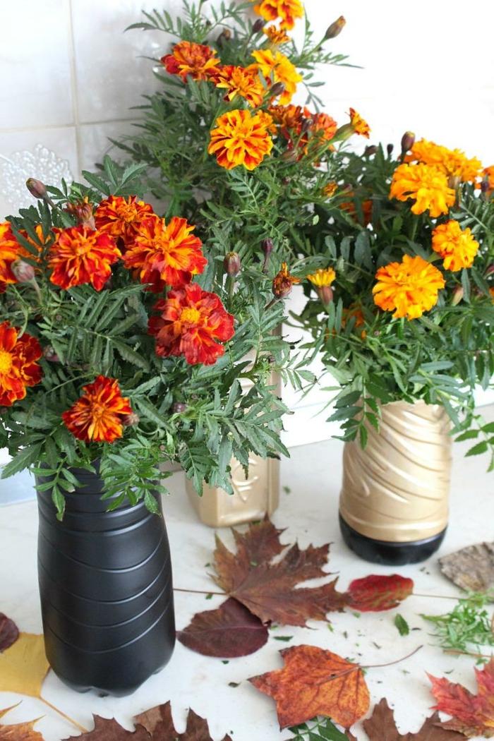 Kreative Bastelideen Blumenvasen Dekoideen