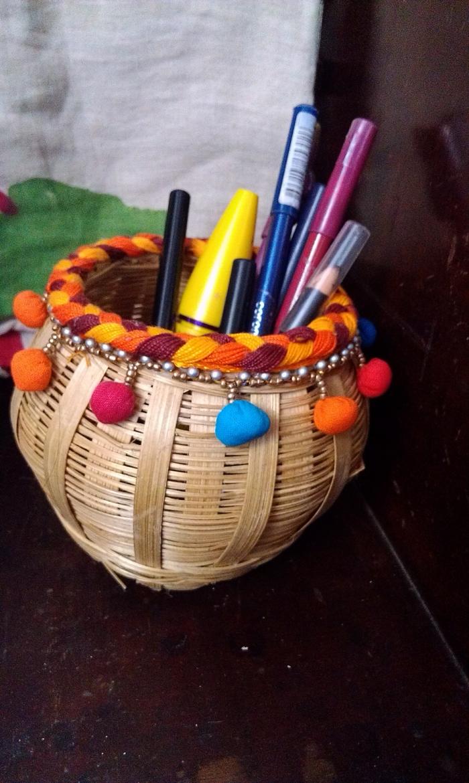kreative bastelideen kosmetikzubehör ordnen organiser