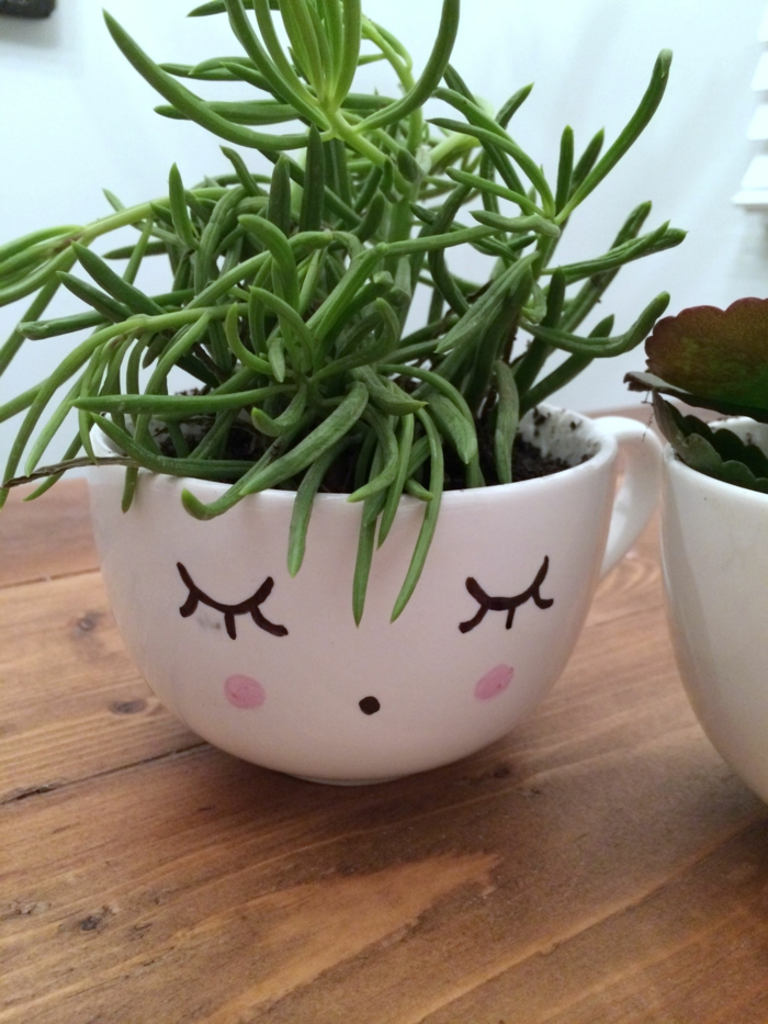 kreative bastelideen lustige pflantenbehälter wohnideen dekoideen