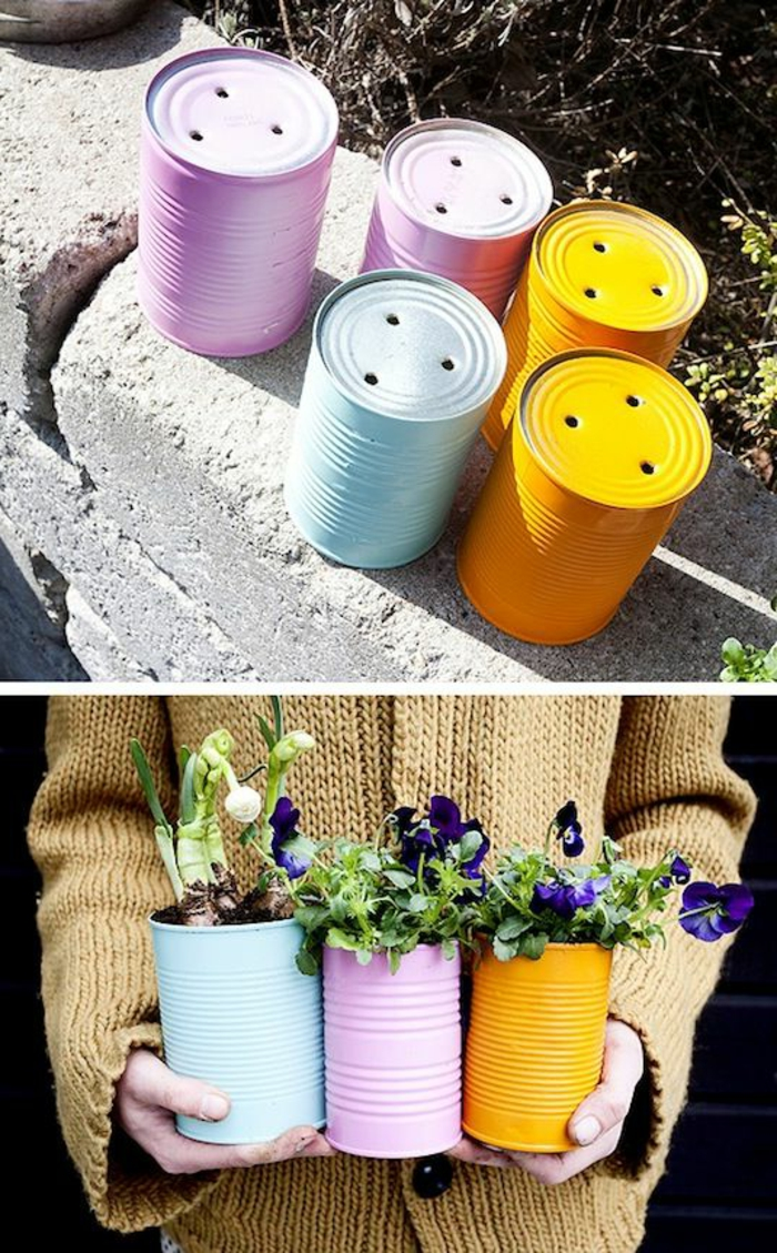 kreative bastelideen pflanzenbehälter selber basteln