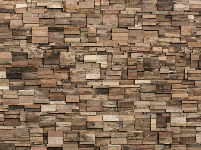Holzpaneele holzwand kreative wandgestaltung holzverkleidung innen deko ideen holzpanell