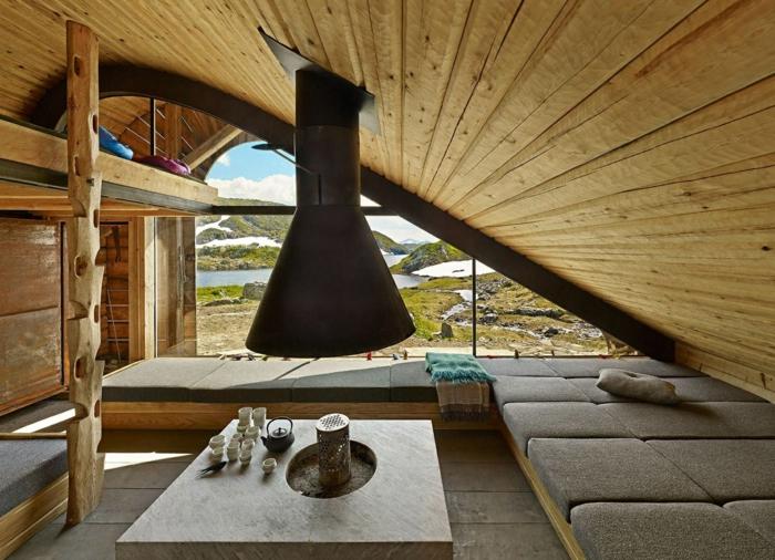 Holzpaneele holzwand kreative wandgestaltungholzverkleidung innen deko ideen jäger hütte