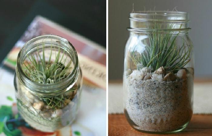 kreatives basteln pflanzenbehälter steine dekoideen