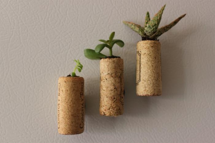 kreatives basteln pflanzenbehälter wanddeko ideen