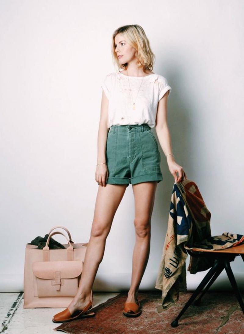 kurze Damenhosen Shorts Damen grün