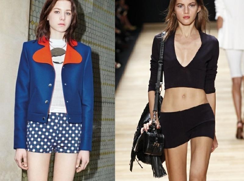 kurze Damenhosen schwarz Sommermode Trends