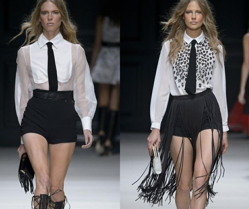 kurze Damenhosen schwarze Shorts Damen Fransen