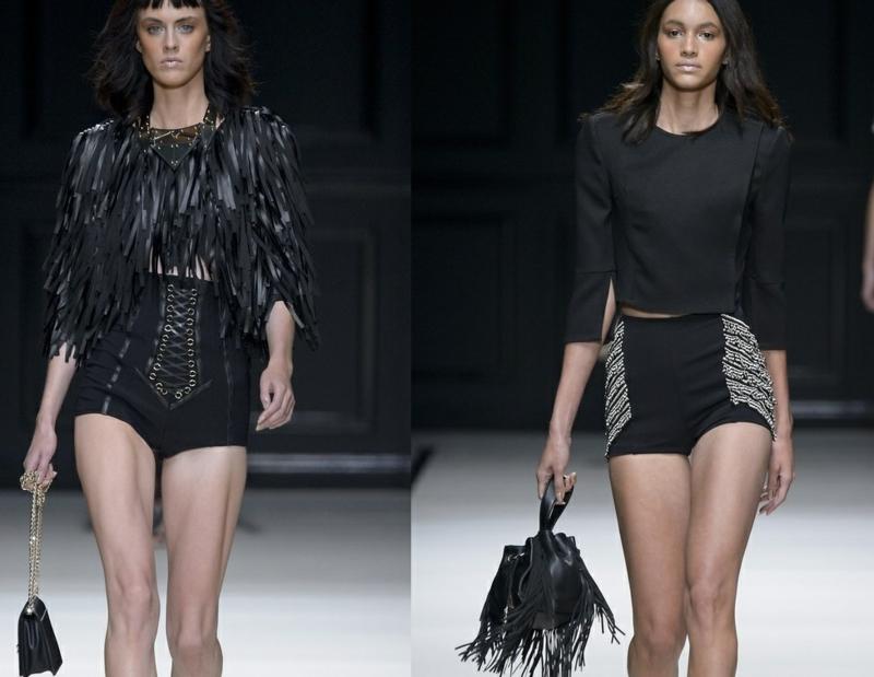 kurze Damenhosen schwarze Shorts Damen hohe Taille Sommermode Trends