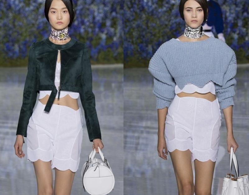 kurze Damenhosen weiß Sommermode Trends