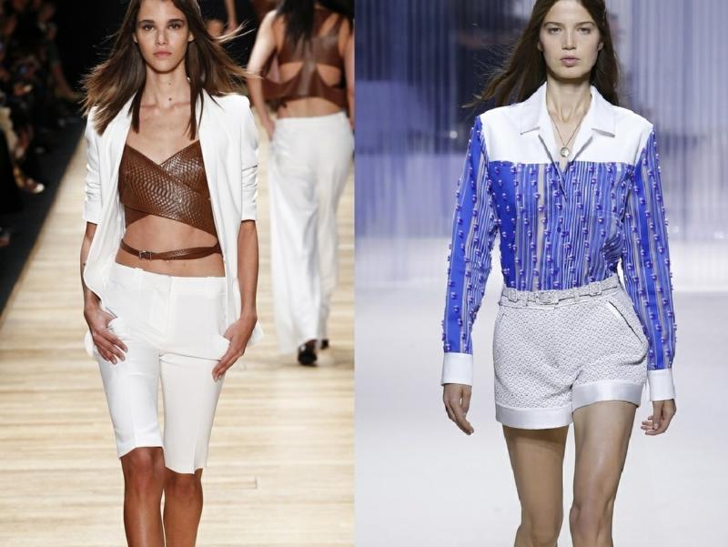 kurze Damenhosen weiß klielang Sommermode Trends