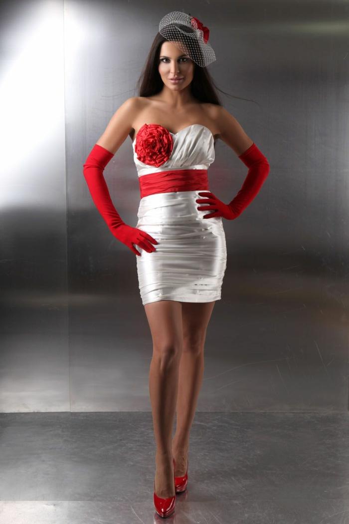 kurze brautkleider 2016 elegant rot weiß hochzeitskleid kleiderfreuden