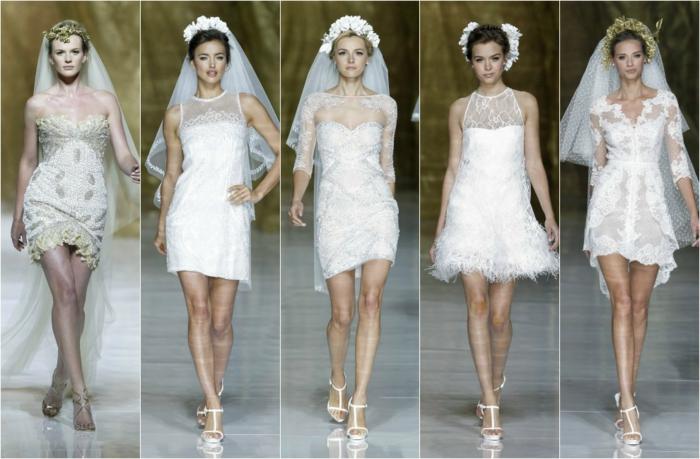 kurze brautkleider 2016 elegantweiße spitze tüll chiffon haute couture