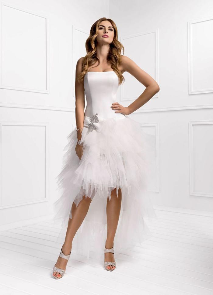 kurze brautkleider 2016 elegantes design hochzeitskleid tüll kollektion avinia