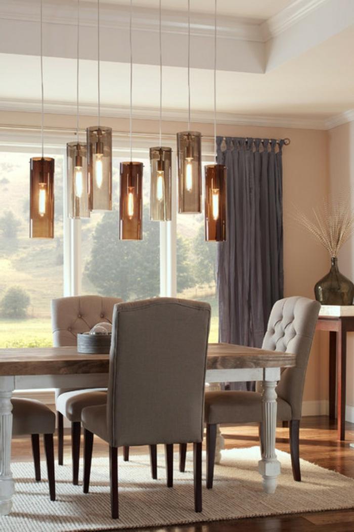 lampen und leuchten esszimmer beleuchten teppich hängelampen
