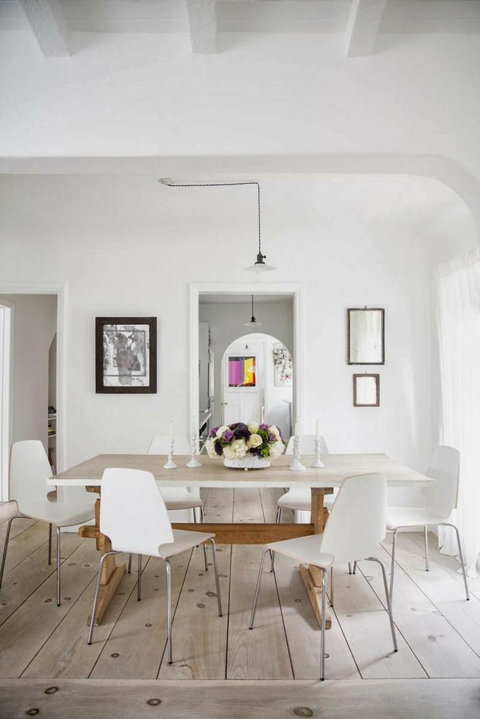 lampen und leuchten esszimmer hängelampen holzboden weiße wände