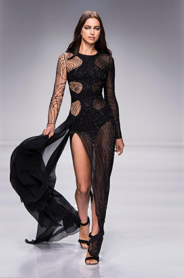 lange kleider cocktail kleid elegante abendkleid schwarz haute couture frühling kollektion versage