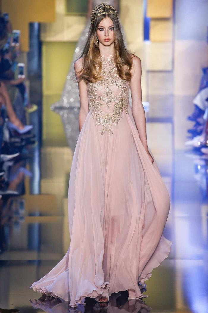 lange kleider cocktail kleid elegante abendkleider brautkleid zart rosa stickereien 2016