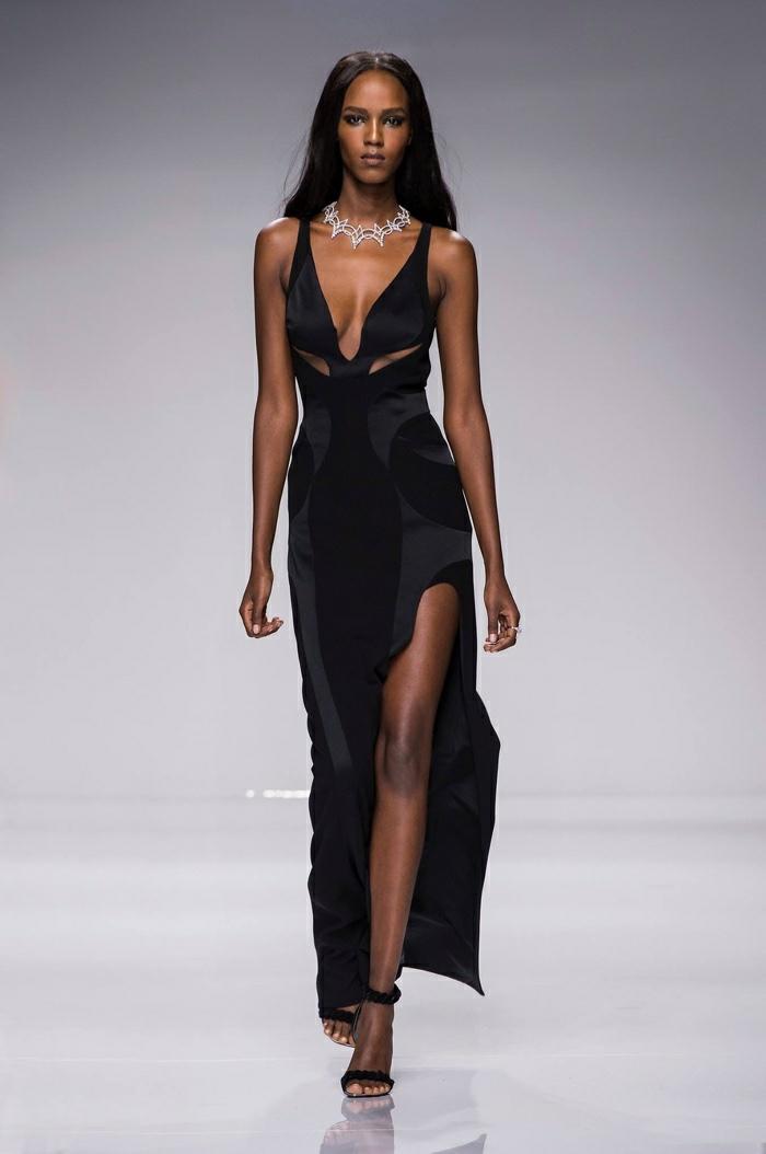 lange kleider cocktai kleid abendkleider elegantes design schlitz haute- 2016 frühling versace