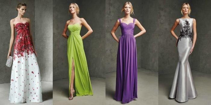 lange kleider cocktail kleid elegantes kleid neongrün lila blumenmuster elegante designs dress trends