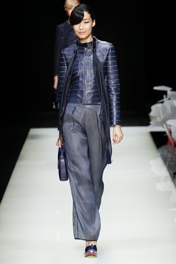 lederjacken moderne designs 2016 casual elegant blaue lederjacke giorgio armani