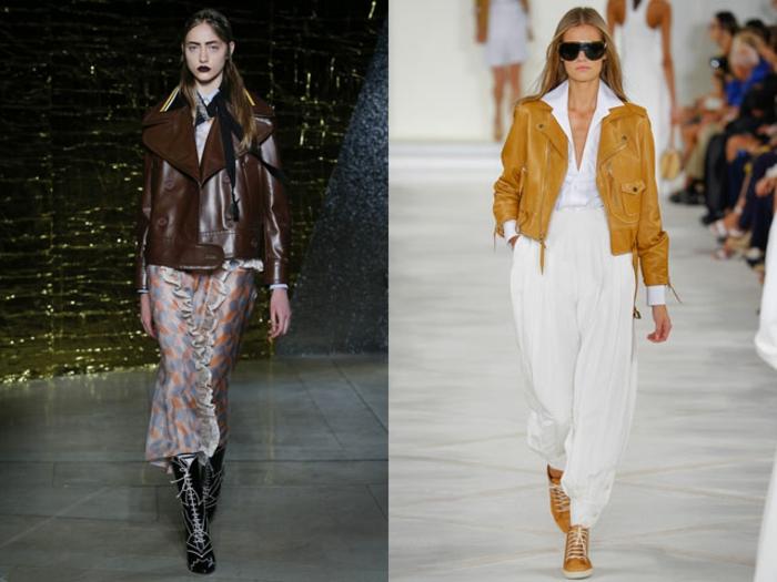lederjacken moderne designs 2016 casual damenmode braun ocker farben