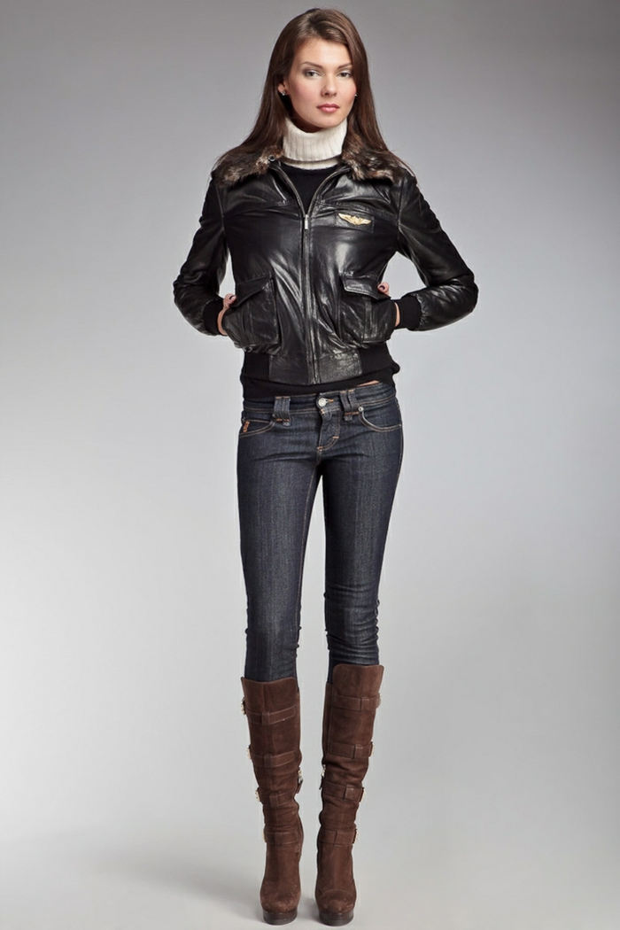 Кожаные куртка женская страдивариус