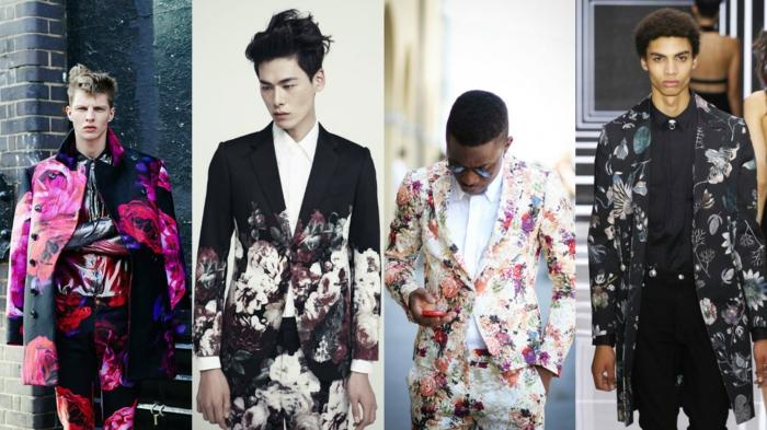 männermode trends 2016 casual elegante anzüge sakko blumentrend sakko prints