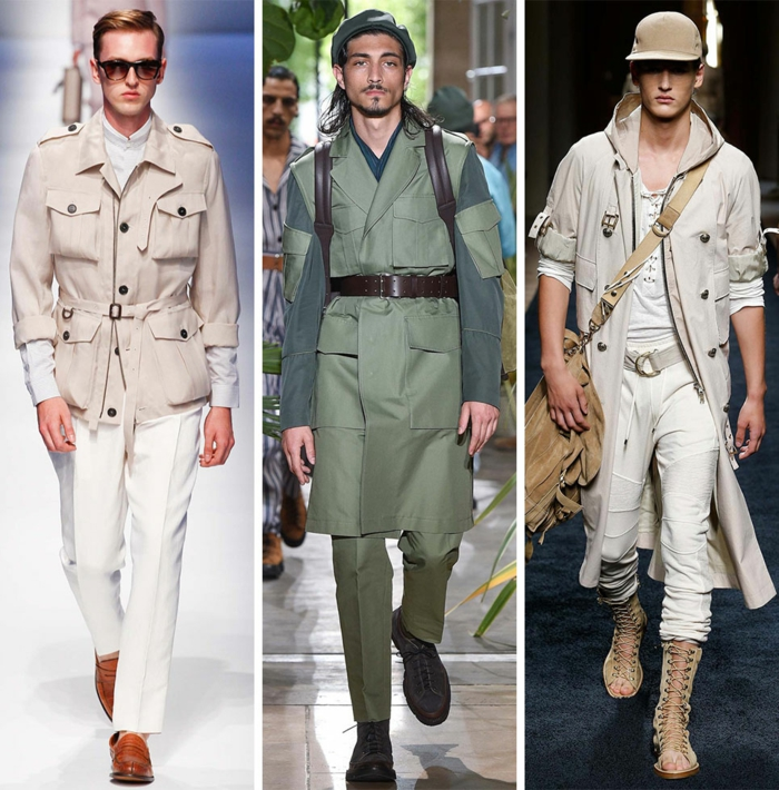 männermode trends 2016 elegante hosen casual mode military stil urban