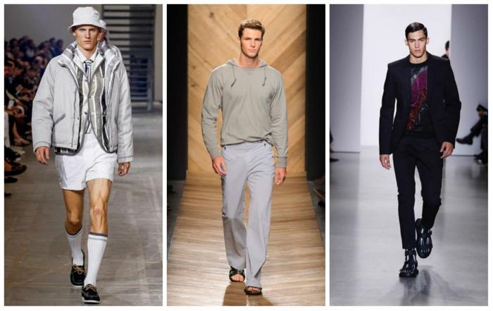männermode trends 2016 elegante hosen kurze hose casual mode frühlingstendenzen