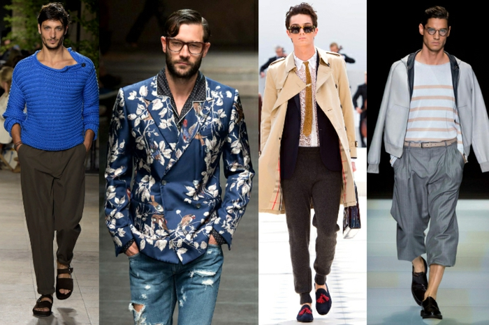 männermode trends 2016 jeans sakko pullover männeranzug elegante hosen casual