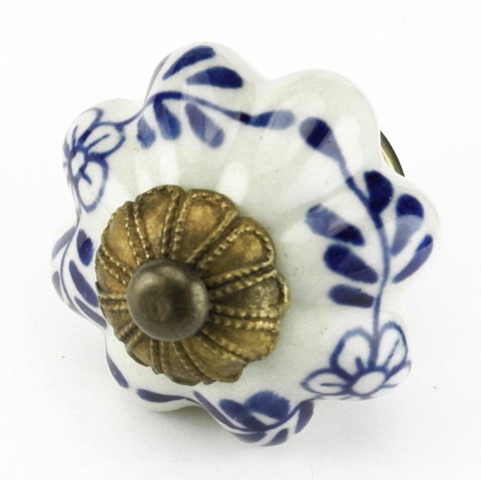 möbelknöpfe porzellan schubladengriffe möbelgriff keramik rustikale muster blau weiß messing kikituan.net