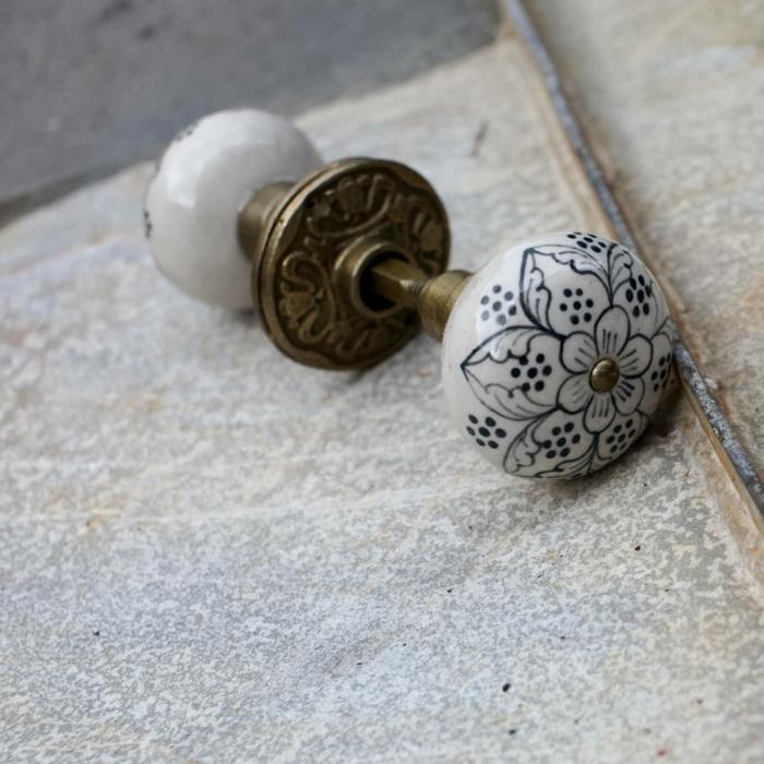 möbelknöpfe porzellan schubladengriffe möbelgriff schrankknöpfe keramik florale muster