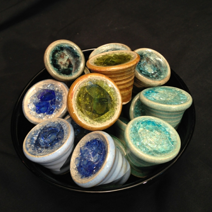 möbelknöpfe porzellan schubladengriffe schrankkoepfe bernstein edelsteine keramik palomapottery