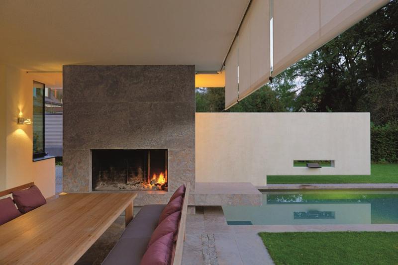 moderne Architektur München Architektenhaus L Stephan Maria Lang Garten mit Pool