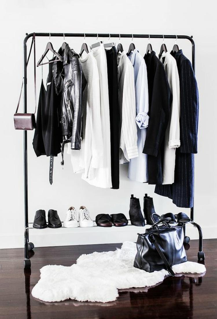moderne Garderoben Klederstaände als Flurgarderobe im skandinavischem Stil