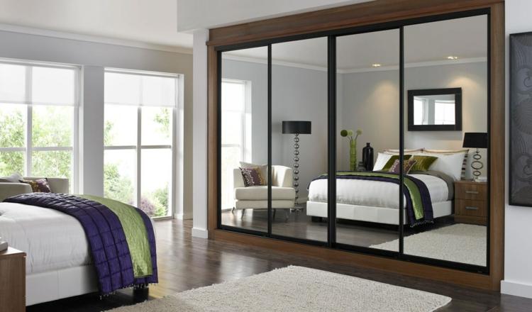 moderne Garderoben Kleiderschrank mit Spiegeltüren