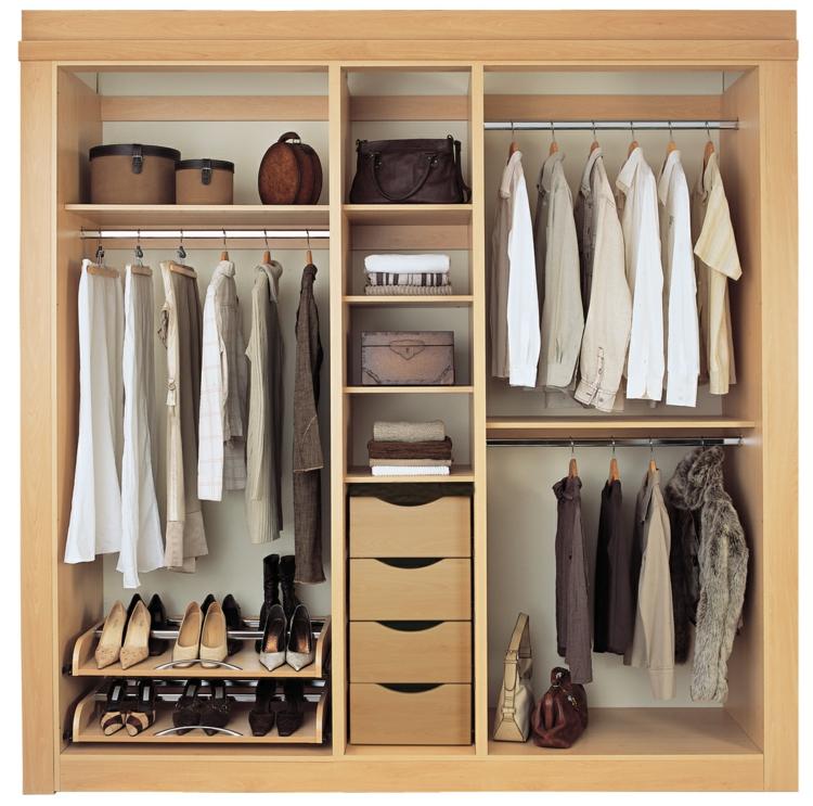 moderne Garderoben Wandgarderobe Holz Männer Kleider orden