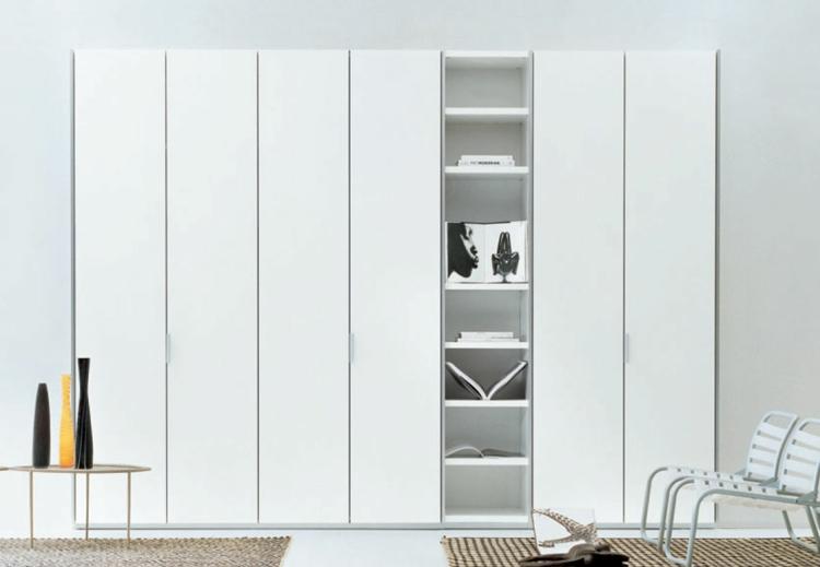 moderne Garderoben und Kleiderschränke weiß Hochglanz