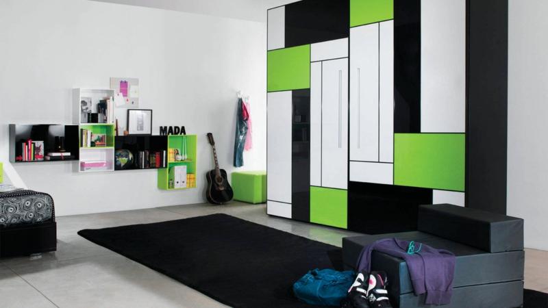 moderne Jugendzimmer Ideen Jugendzimmermöbel Farbgestaltung