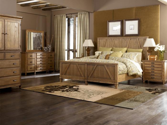 moderne bodenbeläge laminat schlafzimmer boden beige farbnuancen holzmöbel