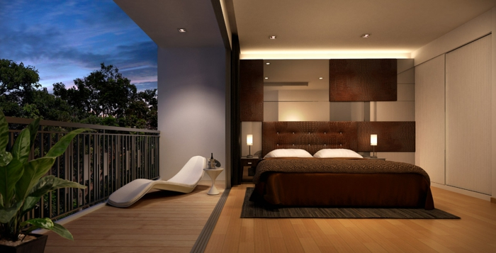 moderne bodenbeläge laminat wohnideen schlafzimmer pflanze balkon