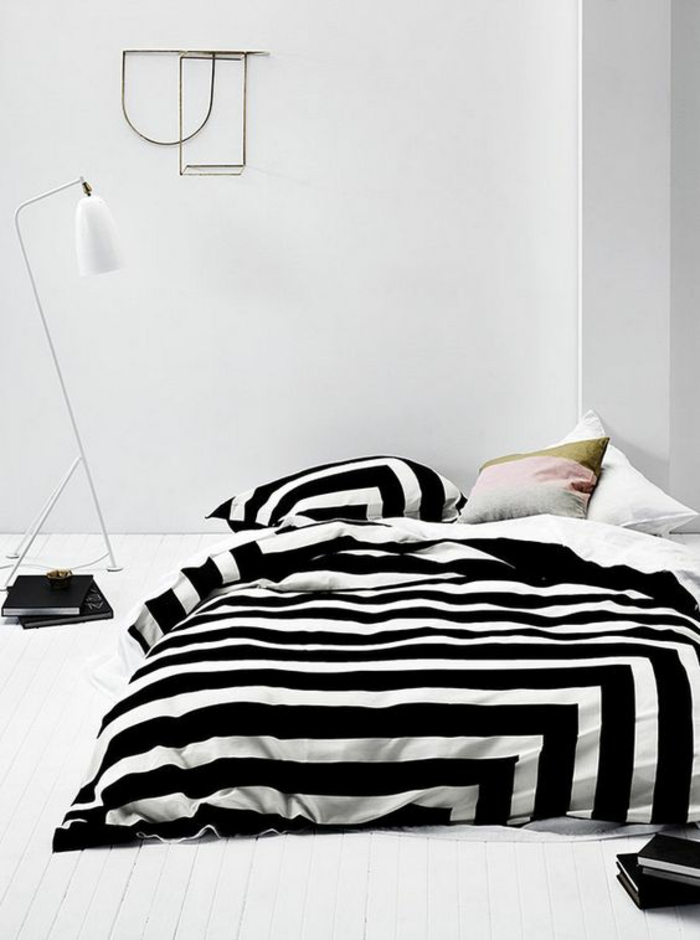 bettw sche schwarz wei gestreift m belideen. Black Bedroom Furniture Sets. Home Design Ideas