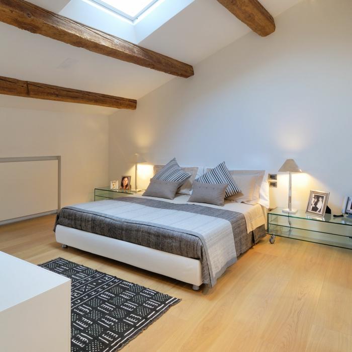 moderne bodenbeläge schlafzimmer einrichten holzboden nachttischleuchten