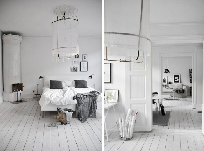 moderne bodenbeläge weiße bodendielen holz wohnung schlafzimmer wohnzimmer