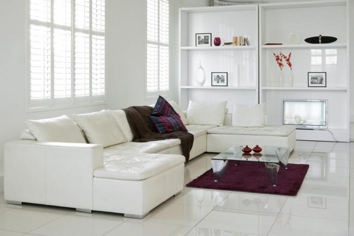 Moderne Bodenbeläge In Weiß Für Ihr Wohnliches Zuhause Fresh Ideen - Weiß bodenfliesen glanz