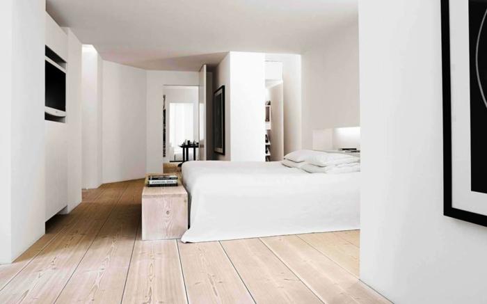 moderne bodenbeläge wohnideen schlafzimmer holzboden minimalistischer stil