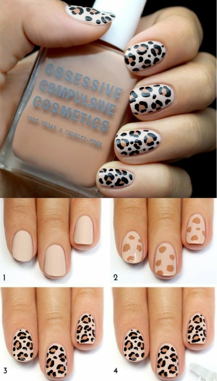 nageldesigns fingernägel design nailart leoparden prints selber machen nagellack
