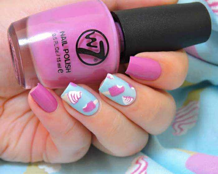 fingernägel design nailart nagellack eis motive